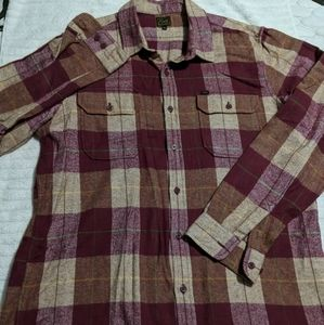 Obey Cotton Flannel Long Sleeve